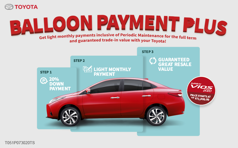 Vios Balloon Payment Plus Plan: A Lighter Option For A Better Normal
