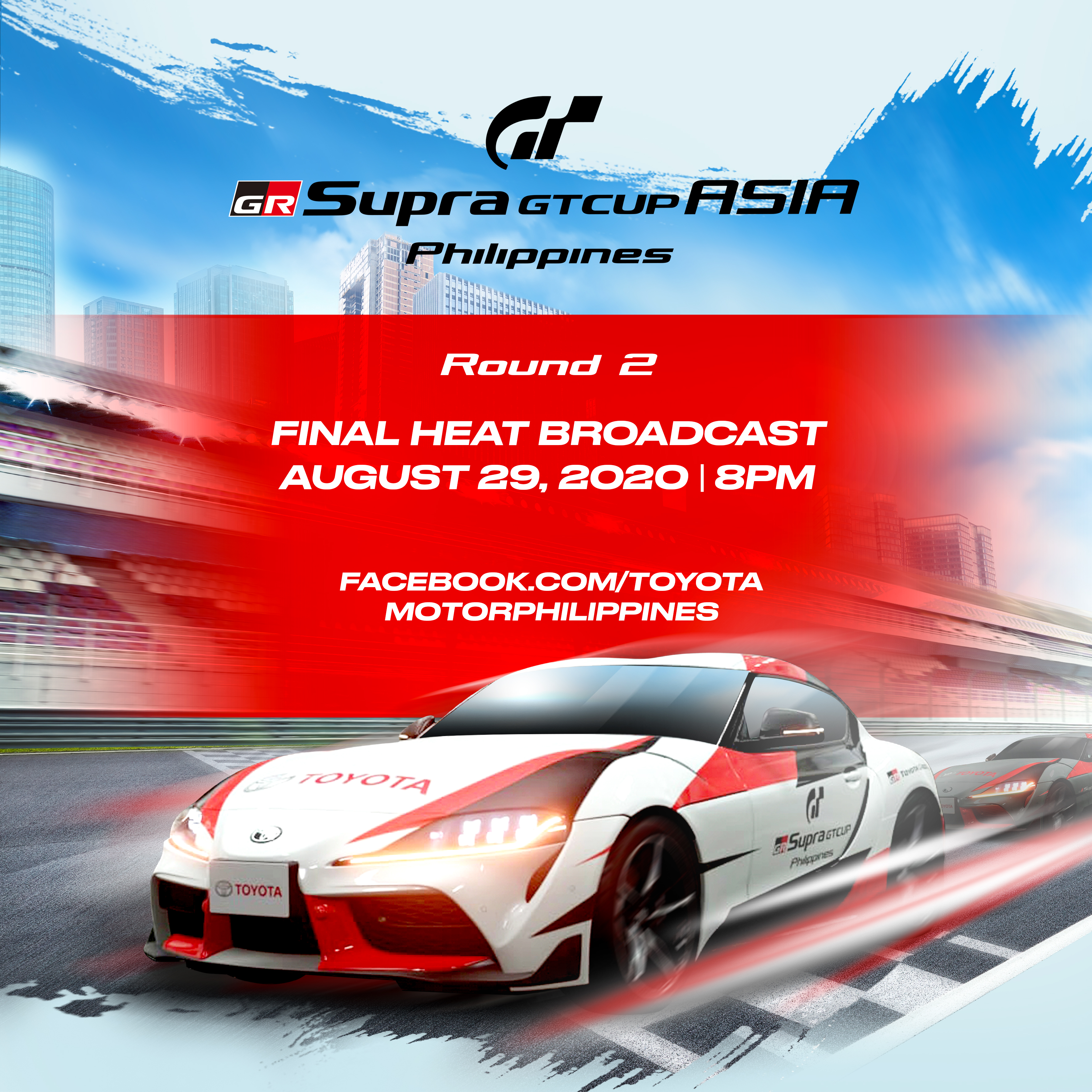 Watch the second round of GR Supra GT Cup Asia - Philippines this August 29