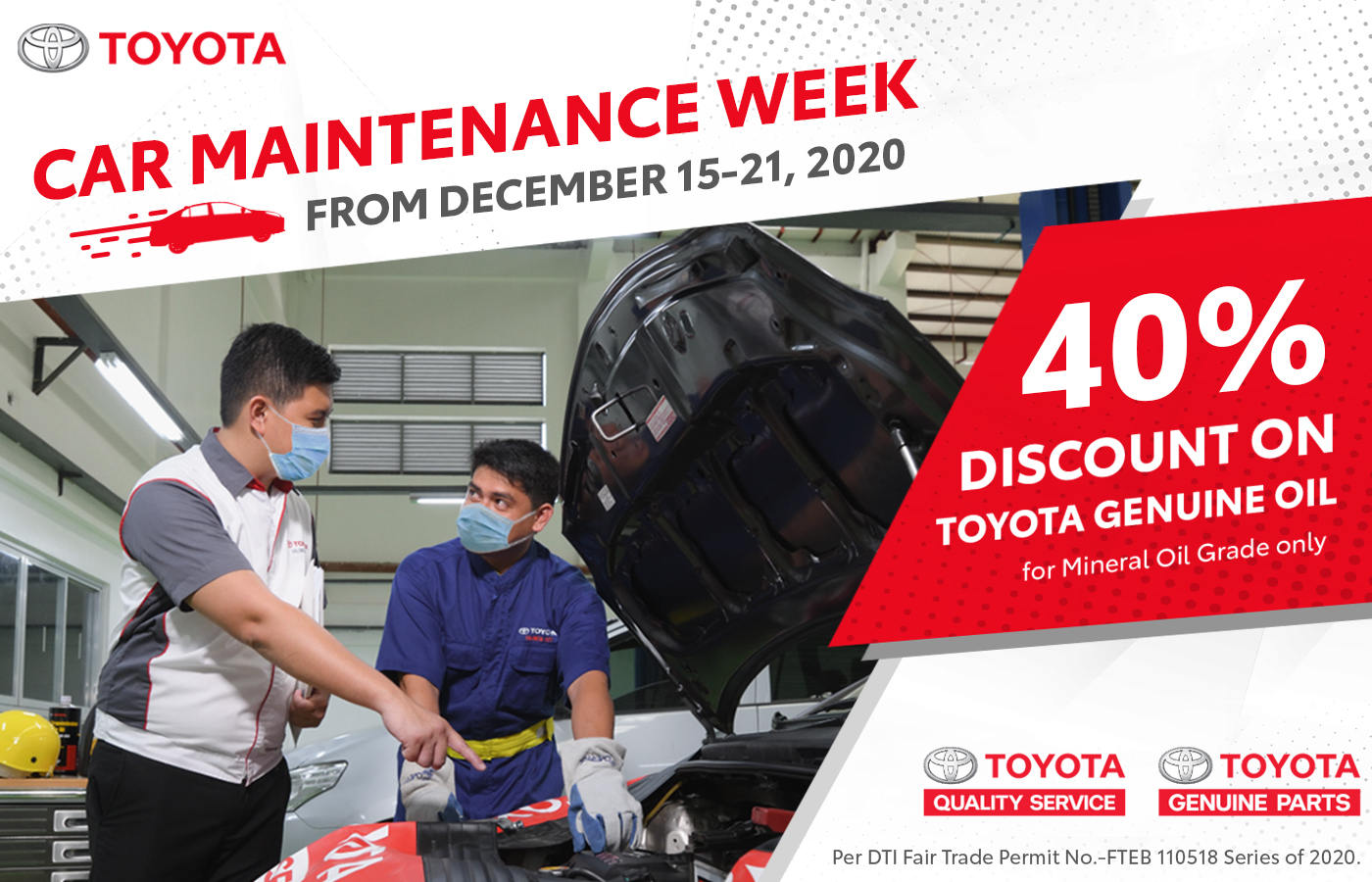 Toyota announces Car Maintenance Week and more service offers this December
