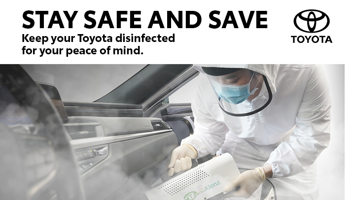 Toyota offers 20% savings on Sanitation Products and Services this May