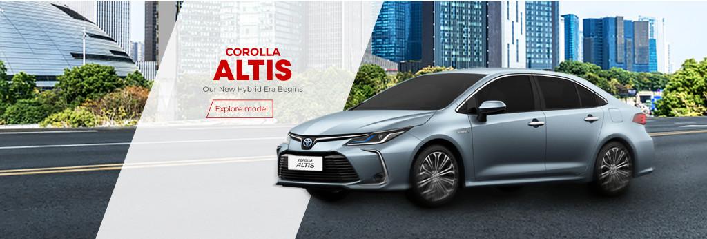 Corolla Altis Tablet Banner